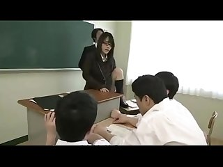 Horny japanese stop the time and fuck her classmates more at xhidden com