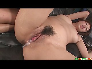 Hot asian blowjob and pussy creampie with Yuna Satsuki