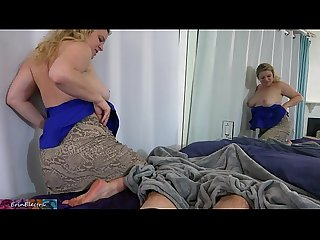 Stepmom tucks stepson into bed (POV)