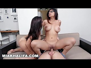 Miakhalifa sitting on big cocks with big tits facing forward compilation