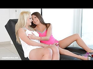 Anita b licks and kisses nina trevino on sapphic erotica in lesbian sex scene