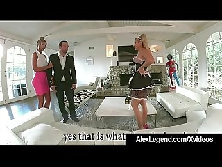 French maid savana styles fucks hubby alex legend wife excl