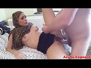 Arab amateur paid money to pussy fuck guy