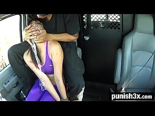 Miko dai s running injury turns into outdoor rope bondage deepthroat bj rough sex
