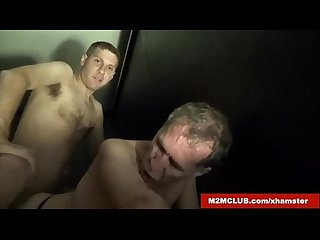 Daddy Gangbanged in Dark Room