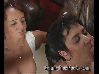 Real nasty granny orgy scene