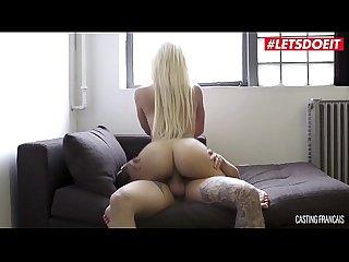 LETSDOEIT - Horny Blonde Teen Has Rough SEX In Her First Porn