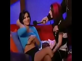 Sunny leone on a late night tv show boobs exposed