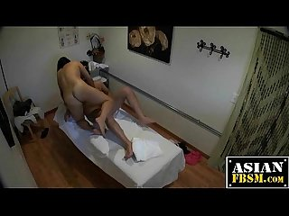 Massage parlor sex and cum shooting