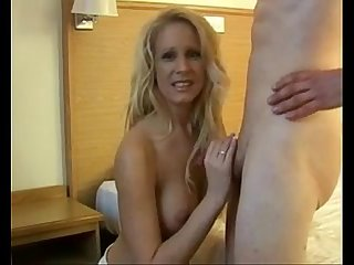 Milf gets a hot facial from young boy more videos on www 69sexlive com
