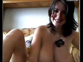 Busty milf masturbating on webcam