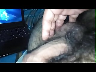 Handjob while watching blowjob