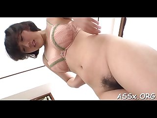 Oriental snatch and anal fuck