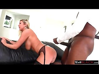 Busty milf in hot lingerie got her ass stuffed hard by huge black cock