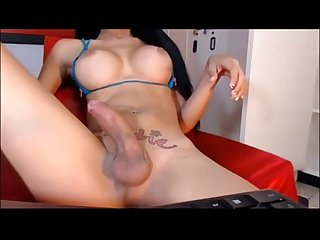 Transsexual with a pretty face and cock