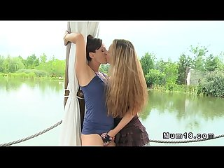 Milf lesbian love by the lake