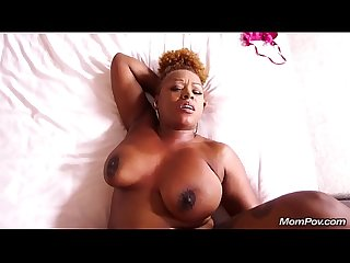 Mature ebony bbw loves thick white cock