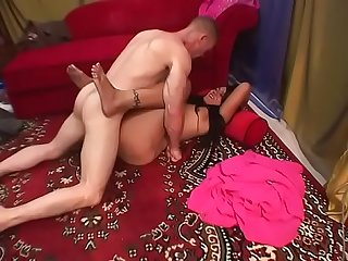 Slender indian babe gets good fuck from hot cock dude in bed