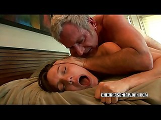 Horny coed Sadie Holmes is taking dick from an old dude