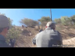 Black border officer catches hot teen