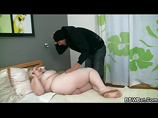 Chubby blonde bbw gets slam-banged