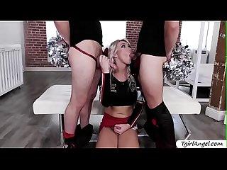 Glamorous Tgirl Aubrey Kate hardcore anal threesome