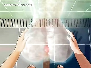 Anime sex doll gets fucked good in shower
