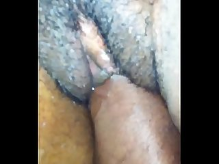 She loves my black fist in her pussy