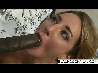 Black monster cocks blasting white sluts face