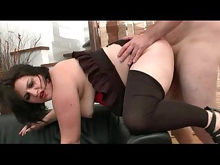 Bbw french slut hard double penetrated