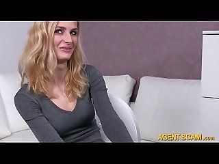 Amateur jenny analyzed and facial cum with perv fake agent