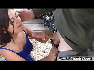 Leather cop xxx border patrol agents found this latina chick running