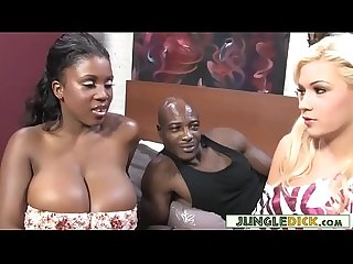 Black Couple Invites Blonde Bimbo For A 3Some - Bibi Noel, Maserati XXX