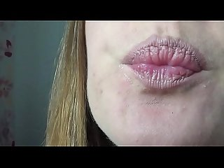 Baby Shows Long Tongue and Suck Sex Toy