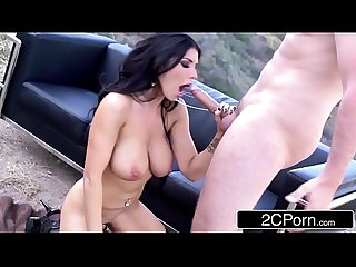 Big tit sex bomb romi rain tries anal for the first time