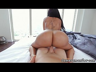 Bigass ebony Pov fucked on The bed