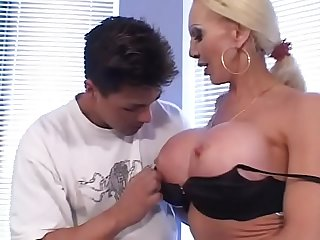 Huge enormous boobs for a wild milf