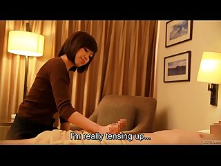 Subtitled japanese hotel massage handjob leads to sex in hd