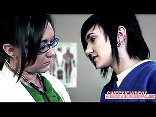 Lesbian doctor and patient mature young girl on girl