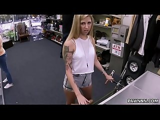 Gorgeous blonde chick fucked at the pawn shop Xxx pawn