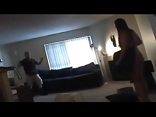 Husband catch wife cheating with lesbian