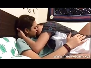 Teen lesbian girls taking kissing challange on live cam