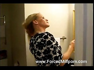 Supet hot milf tied gagged and forced fucked by a fat man