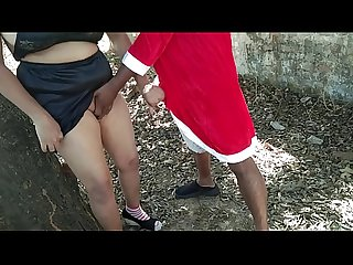 everbest erotic Christmas Santa Claus fuck desi bhabhi In forest:
