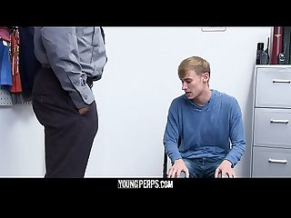 YoungPerps - Hot Black Security Officer Fucks A Cute Thief?s Tight Hole
