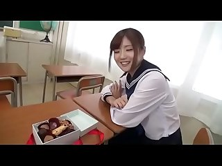 Super hot petite young Japanese schoolgirl gets used
