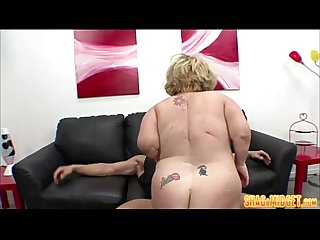 Midget babe humping big cock