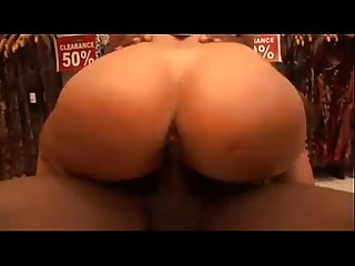 Busty latina fucks black guy in her store pornhub com
