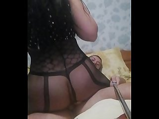 Brunette big ass riding cock
