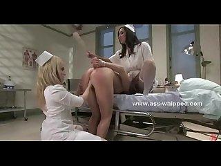 Busty brunette slave lesbian sex video